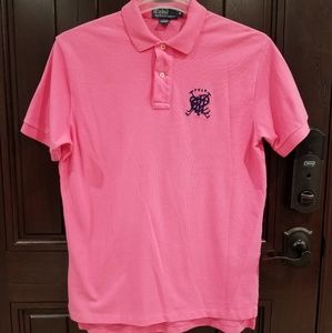 POLO RALPH LAUREN Polo Shirt Pink Men's Medium